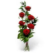 Tunceli çiçek yolla  cam yada mika vazo içerisinde 6 adet kirmizi gül