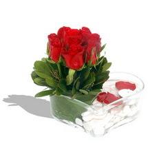 Mika kalp içerisinde 9 adet kirmizi gül  Tunceli online çiçek gönderme sipariş