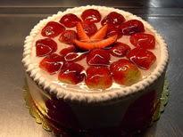 Meyvali yas pasta 4 ile 6 kisilik pasta  Tunceli çiçek yolla