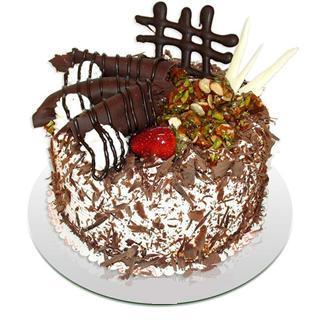 4 ile 6 kisilik çikolatali yas pasta  Tunceli cicekciler , cicek siparisi