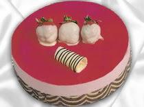 pasta siparisi 4 ile 6 kisilik yas pasta çilekli yaspasta  Tunceli online çiçek gönderme sipariş