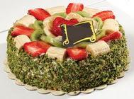 pasta gönder  4 ile 6 kisilik karisik meyvali yas pasta  Tunceli çiçek satışı