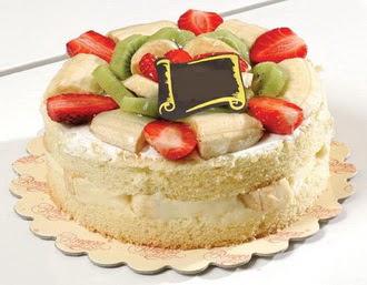 pasta siparisi 4 ile 6 kisilik karisik meyvali yas pasta  Tunceli online çiçek gönderme sipariş