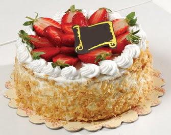 uygun pastaneler 4 ile 6 kisilik çilekli yas pasta lezzetli  Tunceli çiçek , çiçekçi , çiçekçilik