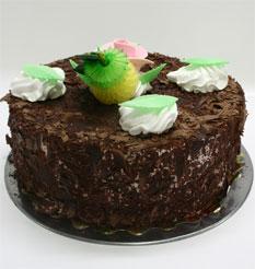 4 ile 6 kisilik yas pasta çikolatali leziz pastane ürünü  Tunceli çiçekçi mağazası