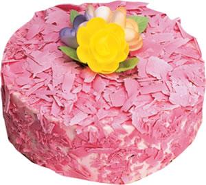 pasta siparisi 4 ile 6 kisilik framboazli yas pasta  Tunceli çiçek mağazası , çiçekçi adresleri
