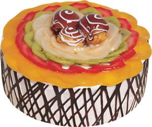 pasta siparisi 4 ile 6 kisilik meyvali yas pasta  Tunceli yurtiçi ve yurtdışı çiçek siparişi