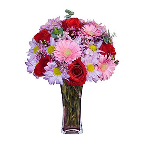 Görsel hediye karisik cam mevsim demeti  Tunceli çiçek gönderme sitemiz güvenlidir