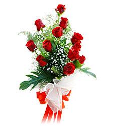 11 adet kirmizi güllerden görsel sölen buket  Tunceli çiçek , çiçekçi , çiçekçilik