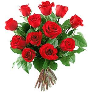 11 adet bakara kirmizi gül buketi  Tunceli uluslararası çiçek gönderme