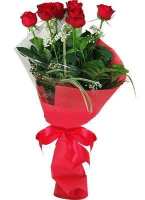 7 adet kirmizi gül buketi  Tunceli hediye sevgilime hediye çiçek