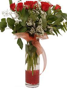Tunceli çiçek siparişi sitesi  11 adet kirmizi gül vazo çiçegi