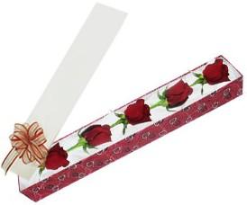 Tunceli çiçek gönderme  kutu içerisinde 5 adet kirmizi gül