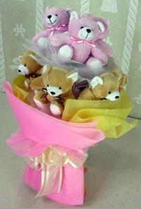 8 adet ayiciktan buket  Tunceli hediye çiçek yolla