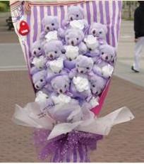 11 adet pelus ayicik buketi  Tunceli çiçek servisi , çiçekçi adresleri