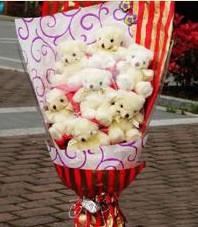 11 adet pelus ayicik buketi  Tunceli çiçek yolla , çiçek gönder , çiçekçi