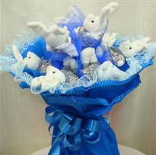 7 adet pelus ayicik buketi  Tunceli online çiçekçi , çiçek siparişi