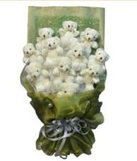 11 adet pelus ayicik buketi  Tunceli ucuz çiçek gönder