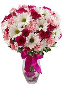 Tunceli çiçek yolla  Karisik mevsim kir çiçegi vazosu