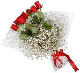 7 adet essiz kalitede kirmizi gül buketi  Tunceli internetten çiçek siparişi