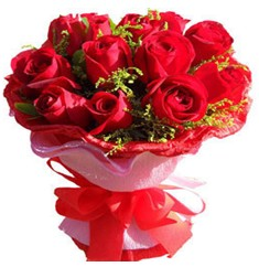 9 adet kirmizi güllerden kipkirmizi buket  Tunceli çiçekçi telefonları