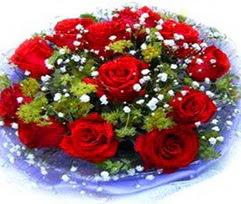 9 adet kirmizi güllerden buket  Tunceli güvenli kaliteli hızlı çiçek