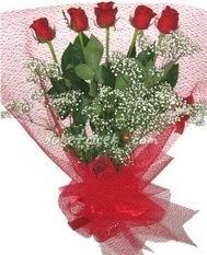 5 adet kirmizi gülden buket tanzimi  Tunceli çiçek mağazası , çiçekçi adresleri