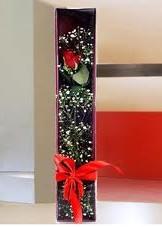 kutu içinde tek kirmizi gül  Tunceli çiçek siparişi vermek