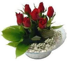 Tunceli çiçek gönderme  cam yada mika içerisinde 5 adet kirmizi gül