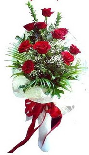 Tunceli çiçek yolla , çiçek gönder , çiçekçi   10 adet kirmizi gül buketi demeti