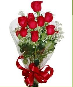 Tunceli çiçek siparişi sitesi  10 adet kırmızı gülden görsel buket