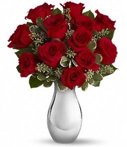 Tunceli çiçek , çiçekçi , çiçekçilik   vazo içerisinde 11 adet kırmızı gül tanzimi