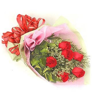 Tunceli online çiçekçi , çiçek siparişi  6 adet kırmızı gülden buket