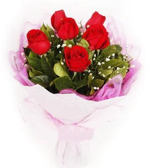 Tunceli internetten çiçek siparişi  kırmızı 6 adet gülden buket