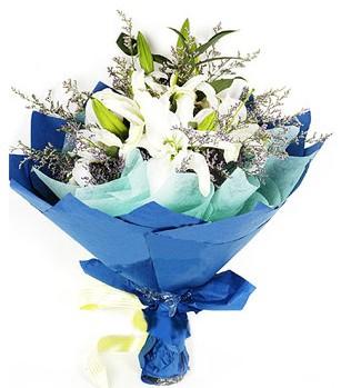 Tunceli çiçekçiler  4 adet dal kazablankadan görsel buket
