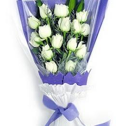 Tunceli çiçek gönderme sitemiz güvenlidir  11 adet beyaz gül buket modeli