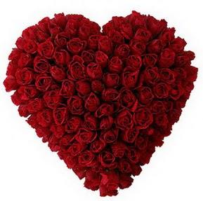 Tunceli çiçek gönderme sitemiz güvenlidir  muhteşem kırmızı güllerden kalp çiçeği