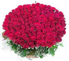 Tunceli anneler günü çiçek yolla  100 adet kırmızı gülden görsel buket
