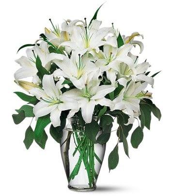 Tunceli çiçek gönderme  4 dal kazablanka ile görsel vazo tanzimi