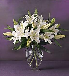 Tunceli çiçek online çiçek siparişi  4 dal cazablanca vazo çiçeği