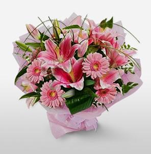 1 dal kazablanka ve kır çiçek görsel buketi  Tunceli çiçek gönderme