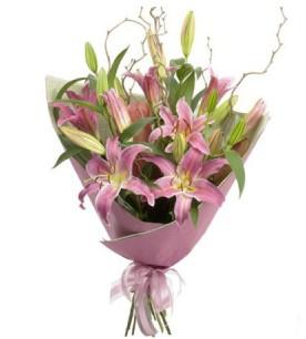 Tunceli çiçek online çiçek siparişi  3 dal cazablanca buket çiçeği