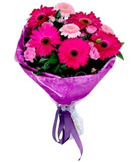 Tunceli çiçek yolla  karışık gerbera çiçeği buketi