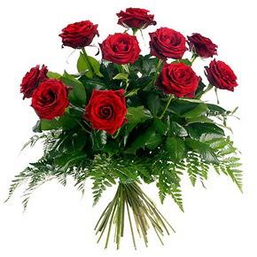 Tunceli kaliteli taze ve ucuz çiçekler  10 adet kırmızı gülden buket
