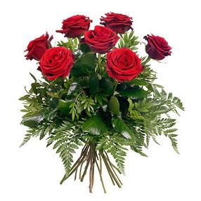 Tunceli ucuz çiçek gönder  7 adet kırmızı gülden buket