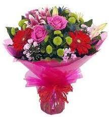 Karışık mevsim çiçekleri demeti  Tunceli ucuz çiçek gönder