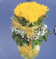 Tunceli çiçekçiler  Cam vazoda 9 Sari gül