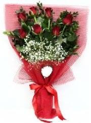 7 adet kırmızı gülden buket tanzimi  Tunceli hediye çiçek yolla