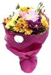 1 demet karışık görsel buket  Tunceli çiçekçiler