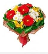 1 demet karışık buket  Tunceli internetten çiçek siparişi